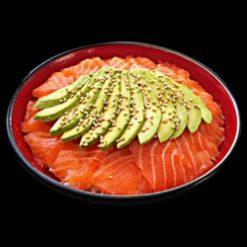 chirashi-saumon-avocat - Sushi garden Liege